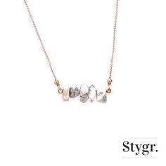 Marble Musthave Necklace - Gold. Stygr. - Handmade Designs.   www.stygr.com