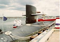 24 July 1992, the day of Ray's (SSN-653) inactivation, at the Charleston Naval Station, S.C.