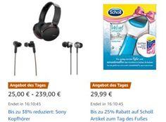 Sony: Kopfhörer mit Rabatt bei Amazon für einen Tag https://www.discountfan.de/artikel/technik_und_haushalt/sony-kopfhoerer-mit-rabatt-bei-amazon-fuer-einen-tag.php Bei Amazon sind am heutigen Mittwoch Sony-Kopfhörer mit Rabatt zu haben. Insgesamt stehen fünf verschiedene Modelle zur Auswahl. Sony: Kopfhörer mit Rabatt bei Amazon für einen Tag (Bild: Sony.de) Die Sony-Kopfhörer mit Rabatt sind nur am heutigen Mittwoch zu haben, solange Vorrat reicht. Die... #Kopfhö