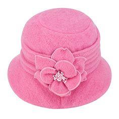 ccd92ba9 Lawliet Womens Gatsby Winter Wool Cap Beret Beanie Cloche Bucket Hat (Pink)  at Cheapcapssmall Women's Hats & Caps sto