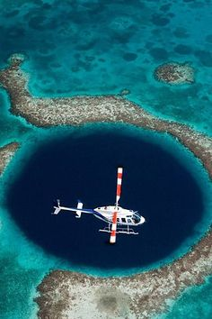 The Great Blue Hole is one of the world's best dive spots! #Belize