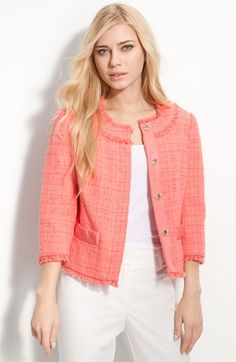 Trina Turk 'Kammie' Cropped Tweed Jacket | Nordstrom - StyleSays