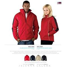 Branded US Basic Calibri Winter Jacket - Men's Corporate Outfits, Corporate Gifts, Promotional Clothing, S Models, Winter Jackets, Leather Jacket, Logo, Clothes, Women