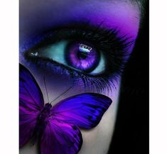 Catch Up mit dem Lila Trend: 15 Perfecy Lila Augen Make up Looks & Tutorials - Makeup - Eye Makeup Purple Love, All Things Purple, Shades Of Purple, Purple Hair, 50 Shades, Make Up Looks, Lila Tattoos, Quote Tattoos, Papillon Violet