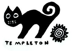 The New Deal Ed Templeton Woofff Cat Sticker