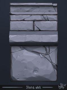 ArtStation - Stone wall sculpt, Blake Maier