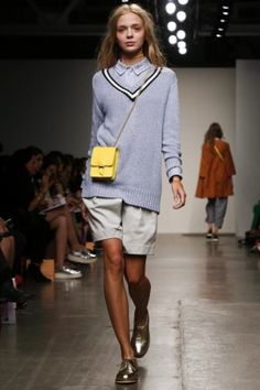 """KAREN WALKER WALKS THE WALK!                                                               { The term """"tomboy"""" is taken for a spin this coming season with soft neutrals and unexpected embellishments. Are you ready for the ride?! }"""