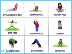 cosmic kids posture poster with fun animal names for the