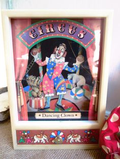 Vintage Clown Music Box. One of you girls had one of these music boxes. Do you remember which one it was Laura?
