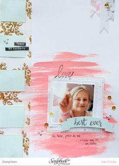 Scrapbook Werkstatt - Inspirationsgalerie Layout Werkstatt - Vellum und Acrylfarben Layout von Julia Schüler