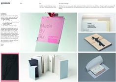 Idea 3 consisted of producing packages of sample pieces of paper to be sent to creatives around the UK.