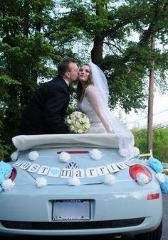 JUST MARRIED car banner soooo my car