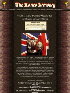 Worldwide weapons and arms dealers, UK based. Over the decades their client list has expanded from Presidents to Postmen, from Royalty to Reverends, we pride themselves on principals of courtesy and assistance that is equal for all. Every sale is important, as is every client. Every item of weaponry is sold with the benefit of full value return, against a future increased value sale. http://www.thelanesarmoury.co.uk/home.php