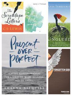 BLOG: five books to read in 2017 #adventureiseveryday #reading #screwtapeletters #cslewis #booklist #amillionlittleways #emilyfreeman #unglued #lysaterkeurst #presentoverperfect #shaunaniequist #forgottengod #francischan