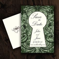 Save The Date Part Of Secret Garden Wedding Invitation Suite Available In My Etsy Store