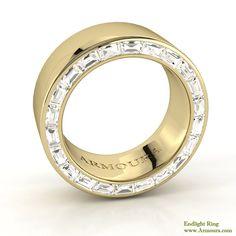 Arclight ring, gold with diamonds, www.Armoura.com