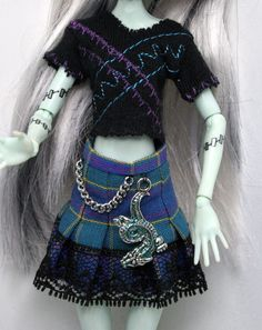Top and Skirt for Monster High