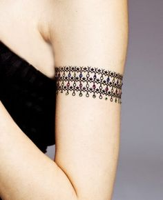Lace Crystal Temporary Abstract Pattern Chain Waterproof Tattoo Stickers on BuyTrends.com, only price $23.99