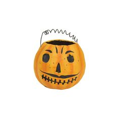 Cody Foster Halloween Fearsome Jack Candy Bucket (£22) ❤ liked on Polyvore featuring home, home decor, holiday decorations, halloween, halloween candy bucket, halloween bucket, candy bucket and halloween home decor