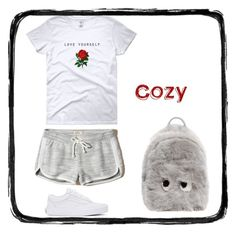 Cozy by begumbs on Polyvore featuring polyvore, мода, style, Hollister Co., Vans, Anya Hindmarch, fashion and clothing