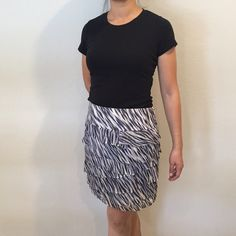 Ann Taylor  Layered Silk Skirt Classy patterned silk skirt with side zipper closure. Shell: 100% silk. Lining:100% polyester. Small stain on front as pictured in last photo. Price adjusted accordingly. Open to offers. Ann Taylor Skirts Mini