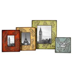 Uttermost - Abstract Ferns Photo Frame (Set of - 18526 Colorful Picture Frames, Picture Frame Sets, Photo Picture Frames, Picture Ideas, Scrapbook Supplies, Ferns, Cool Furniture, Accent Decor, Framed Art