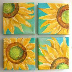 Hausdekor-Leinwand-Sonnenblumen-Deko-frisch-stilvoll