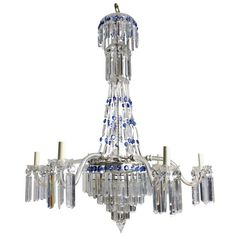 Late 19th Century English Cut Glass Chandelier