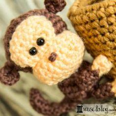 Häkel-Set Stifthalter Affe von Folia