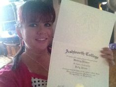 We'd like to congratulate Kelly for graduating from our Certified Wedding Planner Course!  http://www.ashworthcollege.edu/career-diplomas/certified-wedding-planner