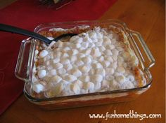 Fun Home Things: Thanksgiving Side Dishes: Sweet Potato Casserole  http://www.funhomethings.com/2012/11/thanksgiving-side-dishes-sweet-potato.html#