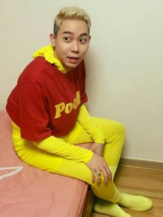 loco, k-hiphop, and vv:d image WINNIE THE POOH!! I have an Eeyore PJ Suit! We have so much in common;P Lol