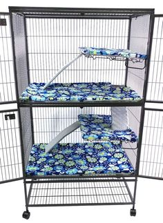 Custom made for Ferret Nation and Critter Nation Chinchilla cages. Make clean-up easy with these chinchilla safe fleece liners for ramps, ledges, and pans. Ferret Toys, Pet Ferret, Pet Rats, Ferrets Care, Cute Ferrets, Chinchillas, Ferret Nation Cage, Critter Nation Cage, Hades