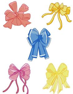 Bows and Ribbons Machine Embroidery Designs by cjcreativedesigns