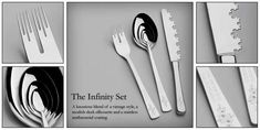 Contemporary Fractal Cutlery - The Infinity Set by LhoghoNurbs Boast Mind-Bending Details (GALLERY)