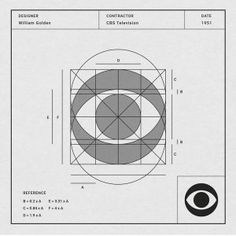 Designer: William Golden Contractor: CBS Television Date: 1951 The now-iconic CBS eyemark logo designed by William Golden was first introduced on October 20 William Golden, Logo Guidelines, Grid, Logo Luxury, Logo Sketches, Logo Process, Love Logo, Geometric Logo, Illustrator Tutorials