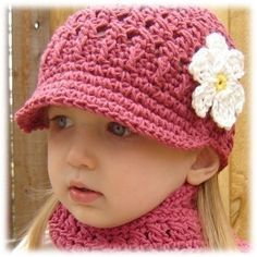 tejidospalitroche: hermosos y coquetos gorritos para niñas