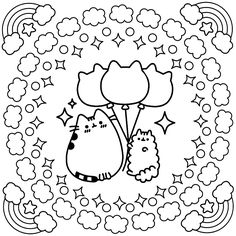 Free Ice Cream Cat Coloring Page | Kitty