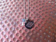 Made in the U.S.A. hand stamped flag necklace for by MamaMedals, $12.00