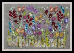 """Buy Meadow, (25"""" x 19"""") mixed media collage, Collage by Mariann Johansen-Ellis on Artfinder. Discover thousands of other original paintings, prints, sculptures and photography from independent artists."""