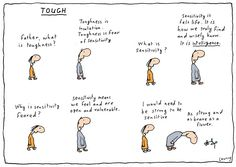 The latest illustrations from artist Michael Leunig Highly Sensitive Person, Sensitive People, Clever Quotes, Soft And Gentle, Political Cartoons, Vulnerability, Bullying, Inspirational Quotes, Thoughts