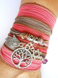 Pea Feather Jewelry Bracelet Silk Wrap Sterling Silver Pinterest Dyed