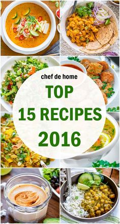Hey you guys! Happy New Year 2017!!We are on foot steps of 2017 and it feels like yesterday when I shared 2015's top recipes! I guess time flies! Isn't it? When I look back at the 2016 for Chef De...