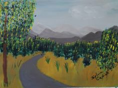 Mountain Road 11X14 acrylic on canvas $150.00 + shipping