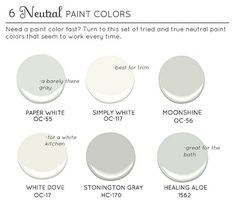 Neutral Paint Colors Paper White Oc 55 Benjamin Moore Simply