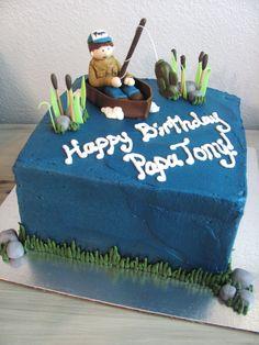fish birthday cake | Fishing Birthday Cake | Nashville Sweets