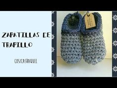 Videotutoriales – Pantunflas – Zapatillas – Trapillo – Crochet XXL – Comando Craft Crochet Sandals, Crochet Blouse, Crochet Slippers, Crochet Scarves, Crochet Clothes, Knitting Videos, Crochet Videos, Crochet Slipper Pattern, Crochet Patterns