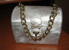 Vintage Lucite Purse Handbag 1960's