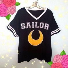 shirt sailor moon grunge grunge t-shirt grunge top kawaii shirt kawaii dress fashion