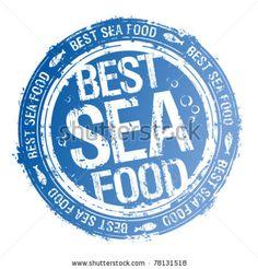stock vector : Best Sea Food rubber stamp.